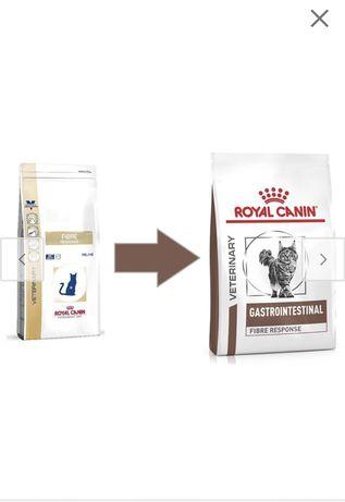 Royal canin fibre роял канин фибре сухой корм для котов пачка по 4кг
