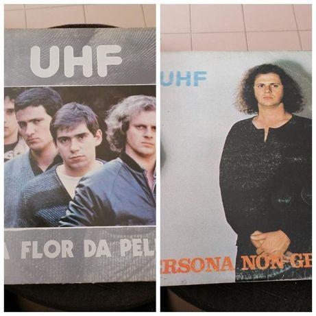 2 Lp's UHF!!!Persona non grata/À flor da pele(biblia do rock),raros!