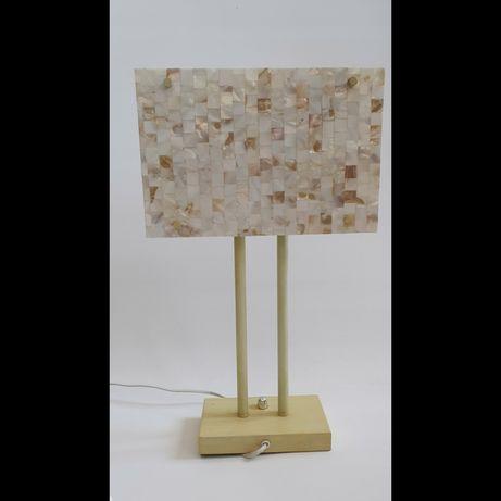 ELEGANCKA nowa lampa stojaca -masa perłowa-ESEO- 50CM i wypalane szklo