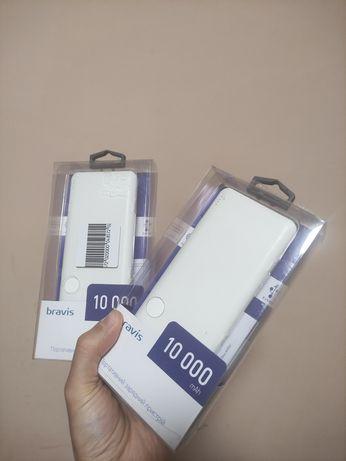 Powerbank BRAVIS PB1037 10000 mAh Type-C White павербанк повербанк