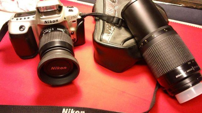 Máquina Fotográfica NIKON F50+2 Objectivas