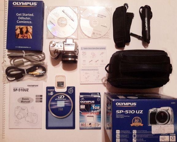 Фотоаппарат Olympus SP-510 UZ + сумка Targus, ремешок, кабеля, коробка