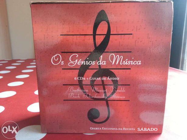 Os Génios da Música 6 CD´s mais guias de audio