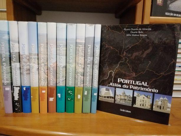 Coleção de livros PORTUGAL PATRIMÓNIO+OFERTA ATLAS PATRIMÓNIO