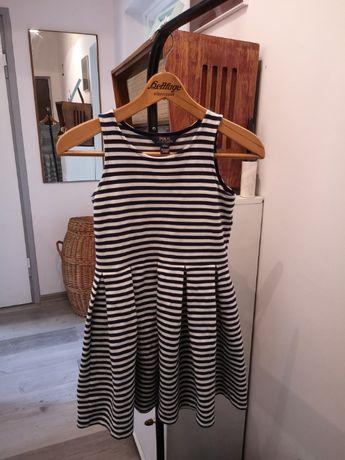 Ralph lauren L 12-14 sukienka w paski RL dziewczynka pasy marynarska