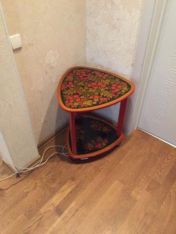 Мебель хохлома стол раскладной, стол на колесах и стул