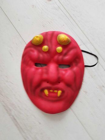 Maska diabła, diabełka z pianki.