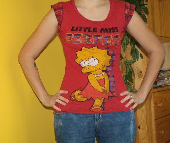 T-shirt z Lisą Simpson, koszulka, Simpsonowie, XS, kreskówki