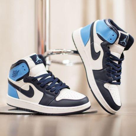 3233 Nike Air Jordan белые с голубым кроссовки найк аир джордан найки