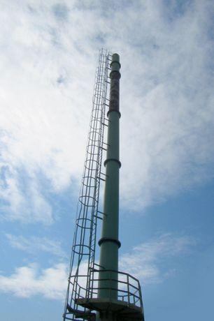 Komin Stalowy o wysokości 27 m, średnicy 0,8 m, grubości 10 mm