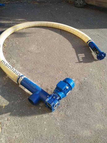 Гибкий конвейер. Шнековый транспортер. Шнек спиральный.