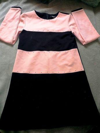 Sly polska sukienka elegancka nowa roz 146 plus sweterek