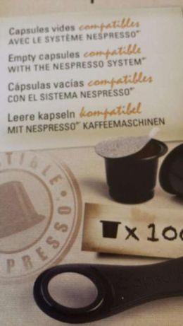 100 Cápsulas Reutilizáveis + 108 Tampas Autoadesiva - Nespresso