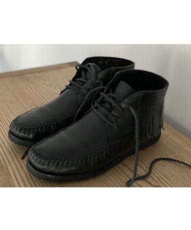Ботинки , кожа YSL , saint laurent , черные , кожа , 42 р