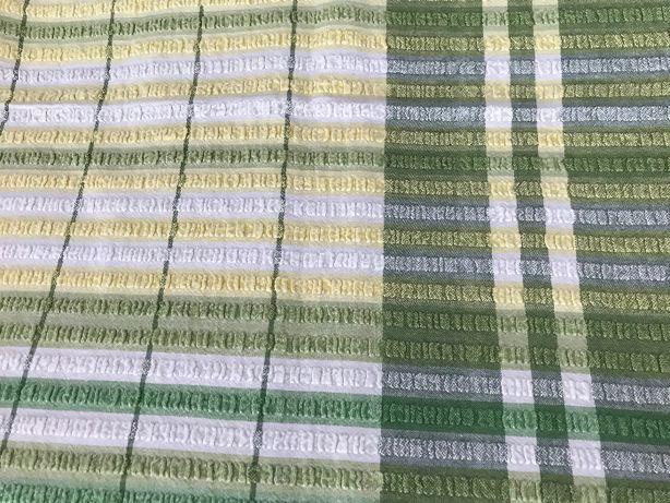 Obrus - zielony, żółty, biały