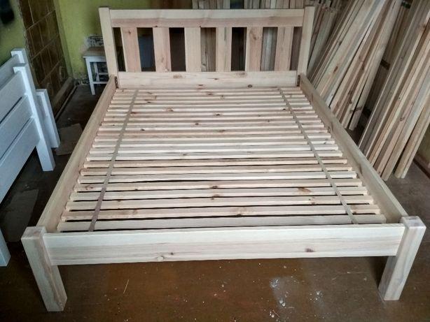 Nowe solidne drewniane sosnowe łóżko 140x200