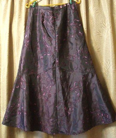 Демисезонная юбка-макси, в пол