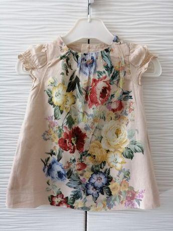 Sukienka Zara sukienki tunika r. 74 , 86 98