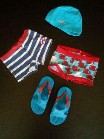 Conjunto de praia ou piscina - natação para bebés: calções de banho