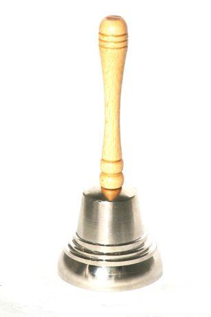 Dzwonek mikołaja Srebrny Duży Prawdziwy