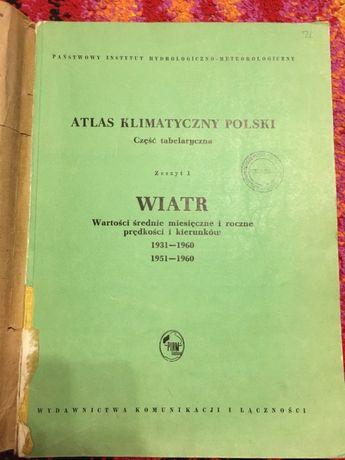 ATLAS KLIMATYCZNY POLSKI - WIATR Tanio książki techniczne ! 1971