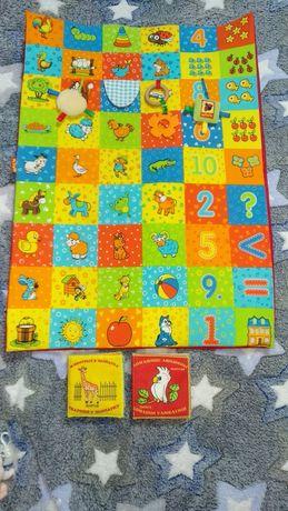 Развивающий коврик с игрушками подвесками  Масик и мягкие книжечки