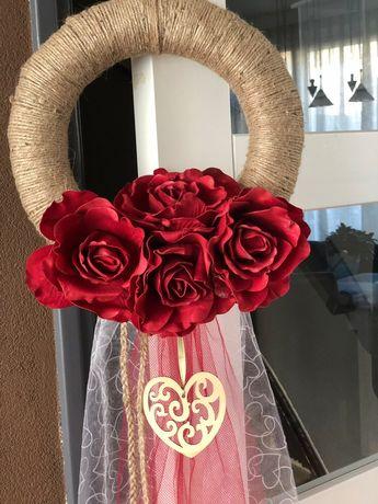 Wianek na drzwi/ dekoracje ślubne