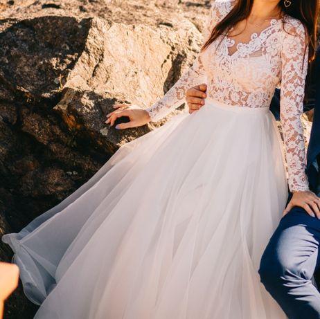 Sprzedam suknię ślubną Charlotte Pilar rozmiar 34
