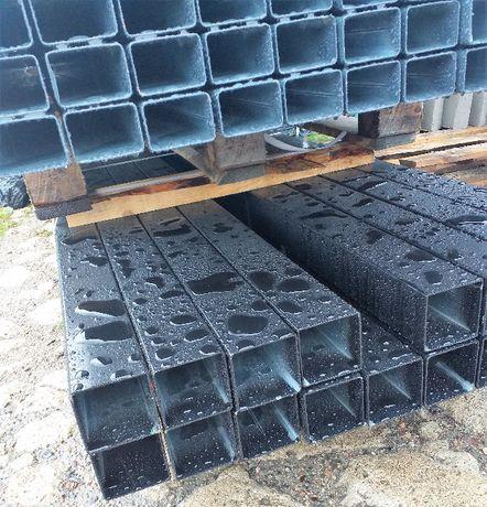 Słupek ogrodzeniowy 80x80x2 grafit, czarny profil, panel, brama,furtka