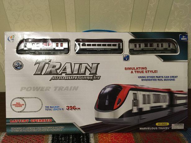 Железная дорога игрушка новая полный комплект