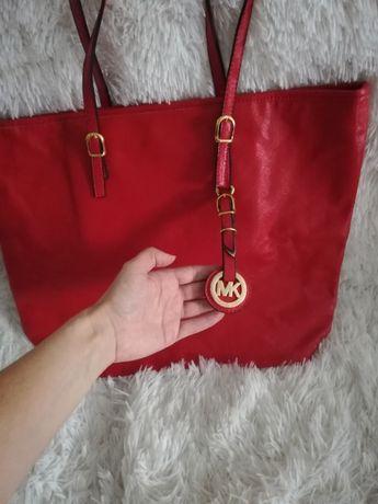 MICHAEL KORS MK, torba MICHAEL KORS duża czerwona