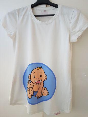 Koszulka T-shirt ciążowy My Tummy chłopiec rozm. XXL