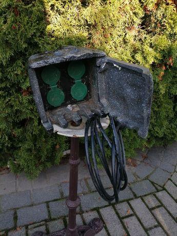 Przedłużacz ogrodowy imitacja kamienia gniazdka elektryczne