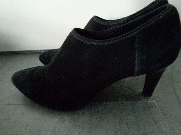Pantofle Ecco 40 półbuty buty skórzane - zamsz - eleganckie, wygodne
