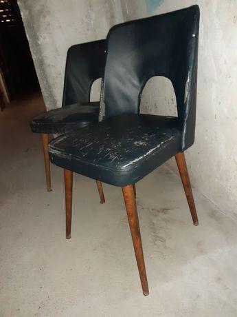 5 krzeseł muszelka, typ 1020 B Jerzy, PRL - retro vintage
