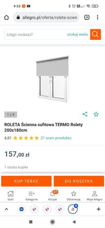 Roleta 180/200 kolor granatowy