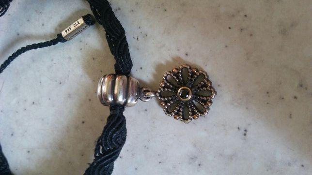 Charms słonecznik tt złoto srebro + bransoletka Pandora