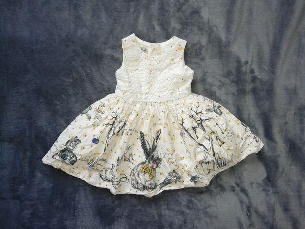 Śliczna sukienka Next 74-80 cm