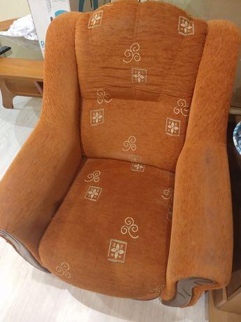 Narożnik + fotel, stolik pod telewizor