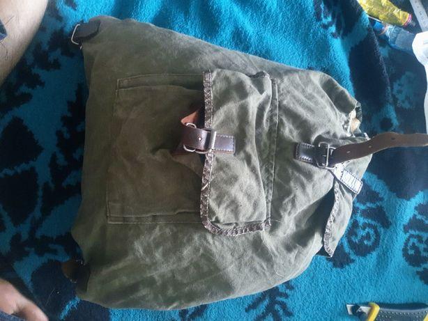 Рюкзак армейский вещмешок СССР туристичесский брезент кожа ткань Легк