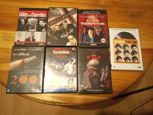 Filmy DVD Święci z Bostonu, Trainspotting, 12 małp i in. Cena za kompl