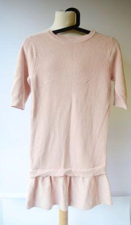 Sukienka Różowa Name It 146 152 cm 11 12 lat Dzianinowa Pudrowy Róż