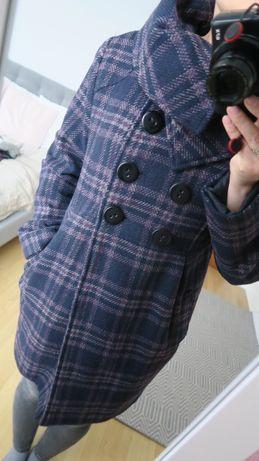 Płaszcz w kratę Reserved roz. 36