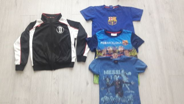 Bluza Lewandowski i koszulki Messi Barcelona 128-134