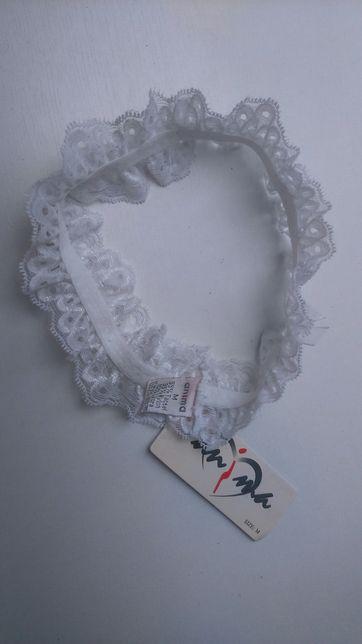 Nowa biała podwiązka Anima roz. M koronka