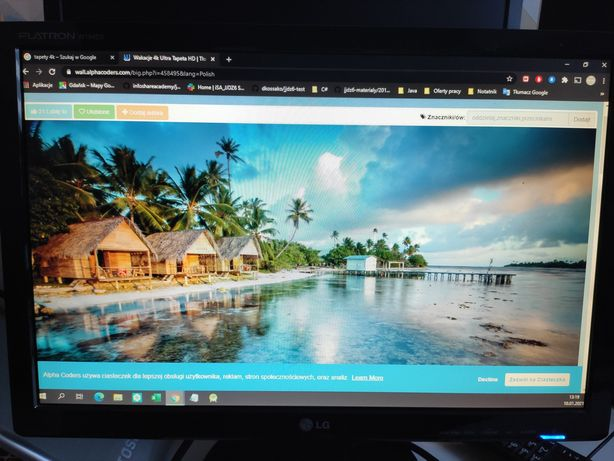 Monitor LG 19 cali Rozdzielczości 1440x900
