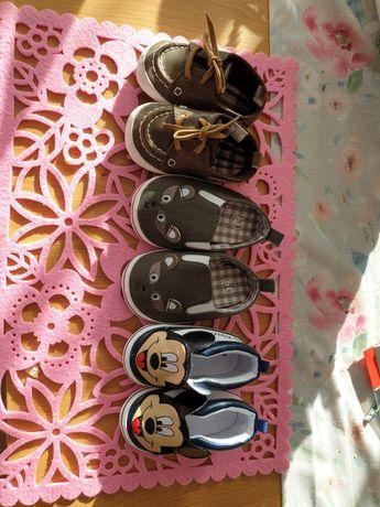 Niechodki r.18,19, chłopczyk, buciki dla niemowlaka