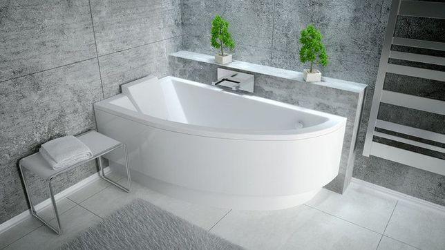 акриловая асимметричная ванна