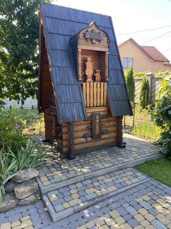 Криниця, колодец , домик для колодца деревяный