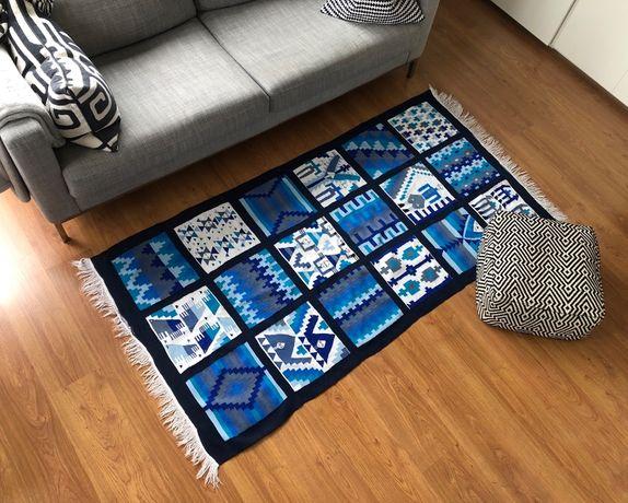 Chodnik kilim dywan orient aztec wełna ręcznie tkany